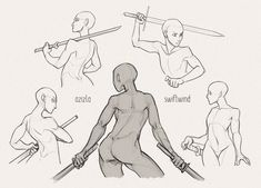 67 Ideas how to draw body male concept art Drawing Poses Male, Female Drawing, Human Drawing, Body Drawing, Anatomy Drawing, Female Pose Reference, Body Reference Drawing, Art Reference Poses, Sword Reference