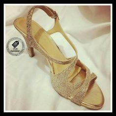Wedding Inspired Shoes | Ladies' Mid-Heeled Sandals | Colour Gold | Dua Sembilan | Duaa Sembilann