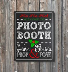 Christmas Photo Booth Sign-Printable by HappyFiestaDesign on Etsy