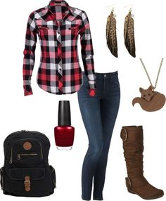 My fave is the plaid shirt. Very simple and casual