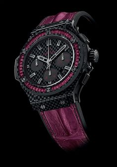 HUBLOT the Big Bang Carbon Bezel Baguette (PR/Pics http://watchmobile7.com/data/News/2013/04/130429-hublot-BIG_BANG_CARBON_BEZEL_BAGUETTE.html) (3/4)