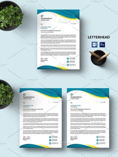Stationery Templates, Letterhead, Photoshop Elements, Custom Design, Layout, Words, Business, Page Layout, Store