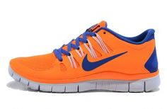 Nike Free 5.0+ Womens Orange Blue Running Shoes - Click Image to Close