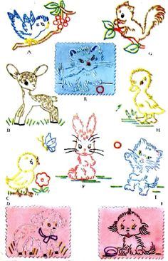 Animals for Quilts Clothes Cloths Vintage Hand by BlondiesSpot