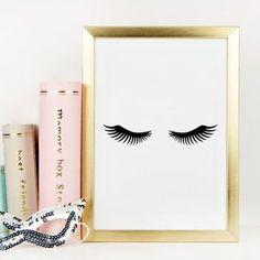 LASHES DIGITAL ART,Lashes Print,Bedroom Wall Art,Bathroom Print,Makeup Print,Nur... - http://centophobe.com/lashes-digital-artlashes-printbedroom-wall-artbathroom-printmakeup-printnur/ -