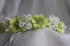 floral crown or flower crown for flower girl by TheCrystalFlower, $55.00