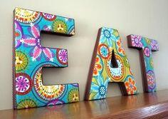 Vila do Artesão: Mais ideias para letras decoradas, dicas de artesanato