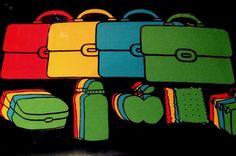 Kleurenspel boekentassen. Blog I Juf Athina
