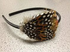 Light Brown/Black Feather Headband *One Size Fits Most* by Hair Accessories. $5.99