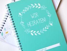 """Hochzeitsplaner """"Wir heiraten!"""" von creative farbe auf DaWanda.com"""