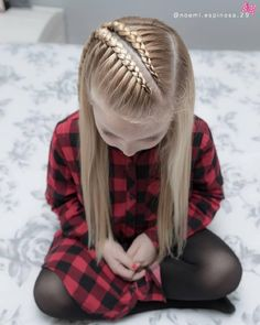 160 Braids Hairstyle Ideas for Little Kids - hairstyles_pinterey Braids For Kids, Girls Braids, Braids Easy, Dutch Braids, Little Girl Hairstyles, Pretty Hairstyles, Hairstyle Ideas, Teenage Hairstyles, Braided Hairstyles For Kids