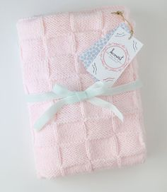 Soft Pink Baby Blanket by deconoHut on Etsy, €40.00