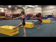 Back Handspring Drills by a 7 year old - YouTube