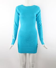Turquoise Lace Sleeve Sweater by 3R Street Wear #zulily #zulilyfinds