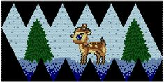 Beaded Ornament with baby Deer. Beaded Christmas Ornaments, Christmas Jewelry, Christmas Crafts, Bead Crochet Patterns, Beading Patterns, Beading Projects, Beading Tutorials, Crochet Ball, Peyote Beading