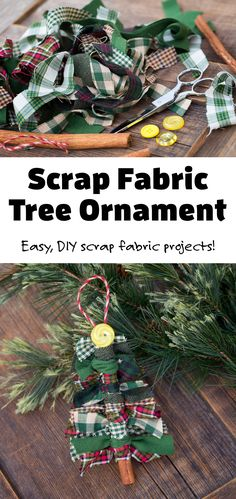 Do you have scrap fabric from quilting or another DIY project? Our Fireflies and Mud Pies readers have tried using it to make scrap fabric tree ornaments with great success! It's an easy scrap fabric project for the holidays and looks beautiful hanging on the Christmas tree. Visit firefliesandmudpies.com for more easy ornament ideas! Easy Ornaments, Christmas Ornament Crafts, Christmas Crafts For Kids, Holiday Crafts, Christmas Diy, Scrap Fabric Projects, Fabric Scraps, Diy Projects, Arts And Crafts For Kids Toddlers