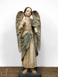 25 Paper Mache Santa Maria Angel Statue by Santos Cage Doll