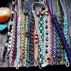 Hemp macrame jewelry handmade in Oregon by HempCraft