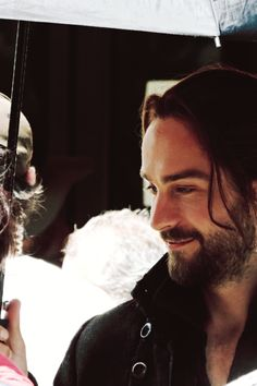 Tom Mison on the set ~ Sleepy Hollow.  Thank you for being the sinspiration for my beloved Turk Blackburn!