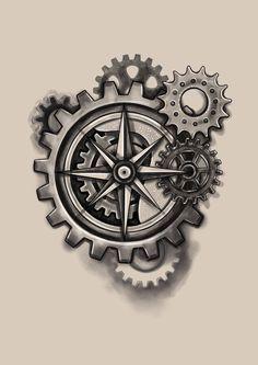 #compas #steampunk #art #drawing #tattoo #design