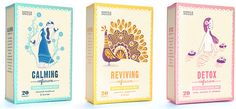 Could this tea packaging be any cuter? Illustrations by Stuart Kolakovic. Tea for Marks & Spencer