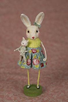 Loretta Lightfoot Bunny by Lori Mitchell      View large  Loretta Lightfoot Bunny    Item # 23792  Resin & Paper Pulp & Metal   7.5 inches tall