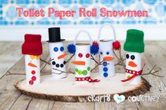 Christmas Craft: Toilet Paper Roll Snowmen: Enjoy this fun toilet roll craft!