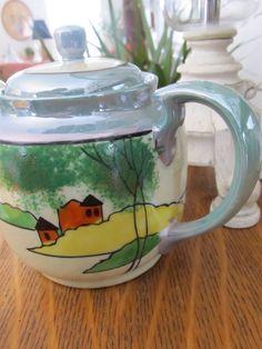 MINT Vintage Lusterware Teapot Mid Century Modern by VintageVivant