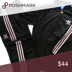 ADIDAS BLACK & PINK TRACK SUIT Excellent Used Condition Both Size Small Pics up asap adidas Jackets & Coats