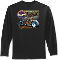 Hot Rod T Shirt Retro Speed Equipment Mens Long Sleeve Shirts Small to 4XL Tall #PitStopShirtShop #GraphicTee