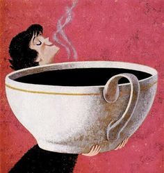 Good morning with a big cup of coffee