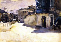 The Athenaeum - Port Scene II (John Singer Sargent - ) 1879