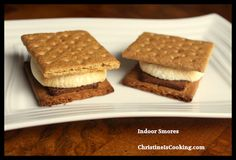 ChristineIsCooking.com: Indoor Smores Recipe (perfect for a camp-IN)