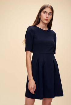 Claudie Pierlot ROLLER : Robes couleur BLEU NUIT