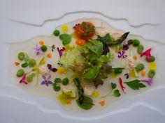 Martin Berasategui's ensalada tibia de mariscos con tuétano de verduras. :)