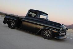 1958 Chevy with a 572 big block  The daddy of my dreams... 58 Hemi matt black... BOOM :)