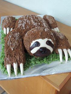 Cake Sloth sculpture.