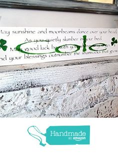 Irish Baby Nursery Décor Customized Name Wall Art Wood Signs