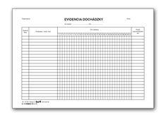 Evidencia dochádzky A4, 20 ks - ŠEVT KATALÓG