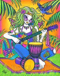 ☯☮ॐ American Hippie Bohemian Psychedelic Art ~ Hippie Chick Music♫♫♥♥♫♫♥♥♫♥JML Hippie Style, Art Hippie, Hippie Trippy, Hippie Peace, Happy Hippie, Hippie Love, Hippie Chick, Hippie Bohemian, Boho