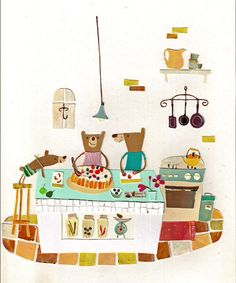 Beer speelt keukentje | pepar collage by natsuko kawatsu
