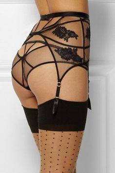 Goth:  The #Wardrobe ~ #Goth Spiderweb Waist Cincher and Panty.