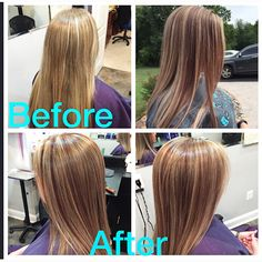 Partial highlight with red violet slices and 6 inches off