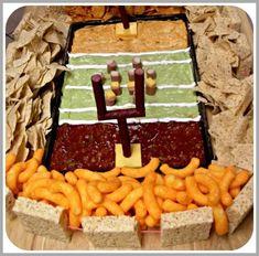 Snack Stadium - football party food idea, build a snackadium! Football Party Foods, Football Food, Football Parties, Football Recipes, Football Tailgate, Football Birthday, Tailgating Recipes, Watch Football, Tailgate Food