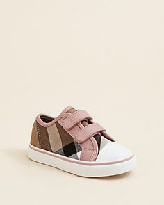 Burberry Toddler Girls' Pete Check Low Top Sneakers - Sizes 1.5-7 Infant; 8-9.5 Toddler | Bloomingdale's  @April Garrett For Addi
