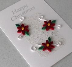 Quilled Christmas card handmade paper quilling by PaperDaisyCards