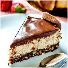 Çikolata ve kahveli cheesecake