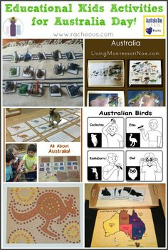 Educational Kids Activities for Australia Day | Learn all about Australia the Montessori way via Racheous - Lovable Learning
