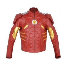 New Handmade Men Iron Man Real Leather Motorbike Jacket - Special Design - Outerwear