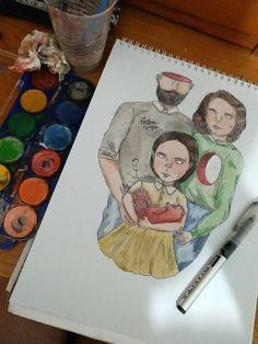 Familia (family) #Draw #Art #Dibujo #Bonito #Arte #Pincel